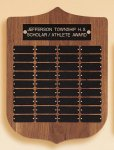 American Walnut Shield Perpetual Plaque Achievement Awards