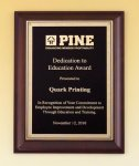 Cherry Finish Plaque Achievement Awards