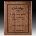 Direct Laser Walnut Plaque Achievement Awards