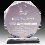 Crystal Multi Faceted Award Achievement Awards