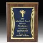 Curved Accent Plate Plaque Achievement Awards