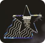 Shooting Star Acrylic Award Achievement Awards