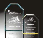 Beveled Clipped Corner Plaque Achievement Awards