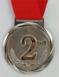 Olympic Style Medal 2nd Place  Achievement Awards