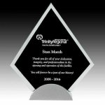 Black Arrowhead Glass on Aluminum Base Acrylic Award Trophy Metal