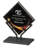 Acrylic Art Galaxy Award Acrylic Award Trophy Metal