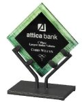 Acrylic Art Galaxy Award - Green Acrylic Award Trophy Metal