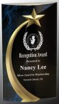 Blue Shooting Star Rounded Acrylic  Acrylic Awards Trophy