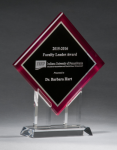 Digitally Printed Diamond Award Acrylic Awards Trophy