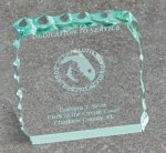 Paper Weight - Cracked Ice Acrylic Awards Trophy