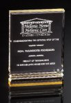 Rectangle with Ribs Acrylic Awards Trophy