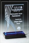 Blue Wave Collection Acrylic Awards Trophy
