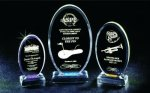 Beveled Oval Acrylic Award Acrylic Awards Trophy
