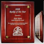 Piano Plaque with Floating Acrylic Face Acrylic Awards Trophy Wood