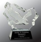 Crystal Carved Eagle Award All Purpose Crystal