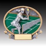 3-D Action Resin Oval Tennis Female All Trophies