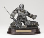 Hockey Goalie Antique Silver Series