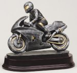 Racing Motorcycle Antique Silver Series