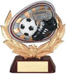 Stamford Resin Soccer Antique Silver Series