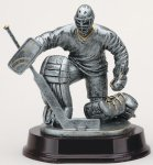 Ice Hockey Goalie Antique Silver Series