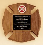 Maltese Cross Fireman Award Award Plaques