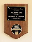American Walnut Plaque with Medallion Award Plaques