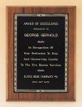 Walnut Plaque with Brass Engraving Plate Award Plaques