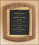 American Walnut Plaque with Antique Bronze Frame Award Plaques