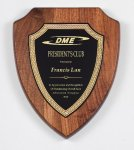 Genuine Walnut Shield Plaque Award Plaques