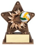 Star Burst Resin Volleyball B Hive Awards & Promotional Products   Acrylic   Crystal   Plaques   Trophies   Name Badges