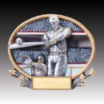 3-D Action Resin Oval Softball Male Baseball Trophies
