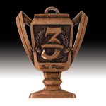 Third Place Trophy Medal Baseball Trophies