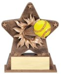 Star Burst Resin -Softball Baseball Trophies Awards