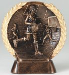 Resin Plate  Basketball Mini Basketball Trophies