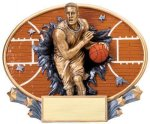 Motion X Oval  Basketball Basketball Trophies Awards