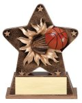 Star Burst Resin -Basketball Basketball Trophies Awards