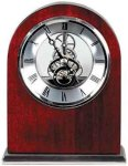 Rosewood Piano Finish Arch Clock Boss Gift Awards