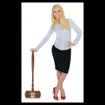 Extra Large Oak Gavel with Gold Brass Band Boss Gift Awards