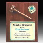 Gavel Plaque with Disc Insert Boss Gift Awards