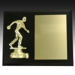Plaque with Bowling Figure Bowling Trophies