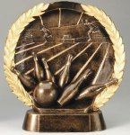 Resin Plate Bowling Bowling Trophies Awards