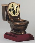 Toilet Resin Bowling Trophies Awards