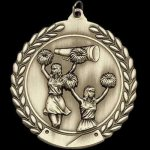 M Series Sculptured Medal Cheerleading Cheerleading Trophy Awards