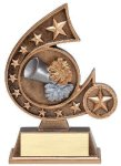 Resin Comet Series -Cheerleader Cheerleading Trophy Awards