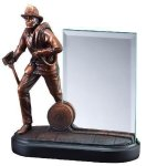 Fireman With Glass Clear Glass Awards