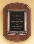 American Walnut Plaque with an Antique Bronze Casting Contemporary Awards