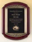 Rosewood Piano Finish Plaque Contemporary Awards