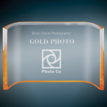 Gold Acrylic Crescent Corporate Acrylic Awards Trophy