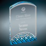 Blue Horizon Acrylic Corporate Acrylic Awards Trophy