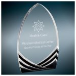 Black Soaring Cathedral Acrylic Corporate Acrylic Awards Trophy